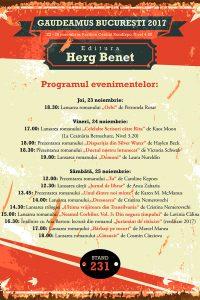 Editura Herg Benet la Gaudeamus 2017 – Noutăți și lansări