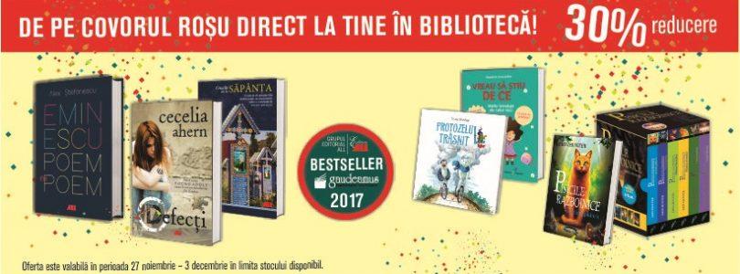 Topul vânzărilor Grupului Editorial ALL la Târgul Internațional Gaudeamus 2017
