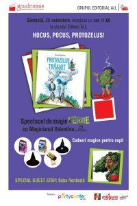 """Volumul """"Protozelul trăsnit"""" se lansează la Gaudeamus printr-un spectacol de magie!"""