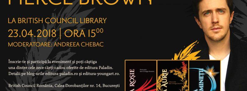"""Pierce Brown, autorul seriei """"Furia roșie"""", vine în România!"""