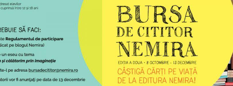 Bursa Nemira – cărți pe viață pentru elevi, ediția 2018 (8 octombrie – 13 decembrie)