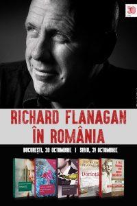 Richard Flanagan, celebrul scriitor australian și câștigător al Premiului Man Booker, vine în România!